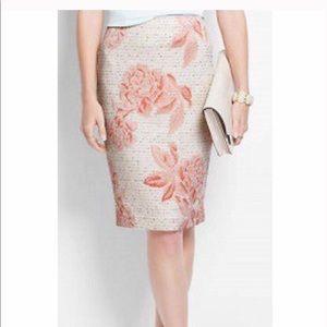 Ann Taylor Floral Pencil Skirt Size 6